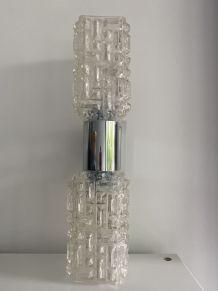 Applique vintage verre et chrome