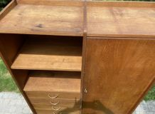 Armoire commode bibliothèque style scandinave 1950