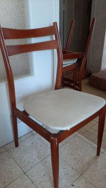 lot de 4 chaises style 70