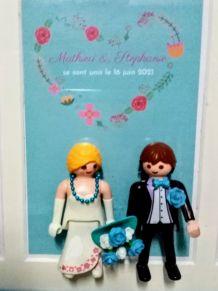 Cadre de mariage Playmobil, cadeau de mariage, cadre photo