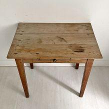 Petit bureau vintage 50's bois brut
