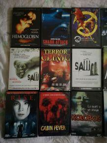 LOT DE 15 DVD HORREUR dont rares