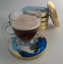Décoration mariage boisson dessous de verre lot 6