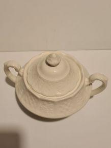 Sucrier Porcelaine blanche Anglaise Royale Cauldron