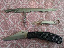 lot de 3 canifs couteaux