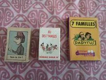 LOT de 3 jeux de 7 familles pubs et bd