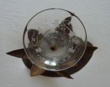 Vase sur socle fer forgé, pièce UNIQUE d'artisanat