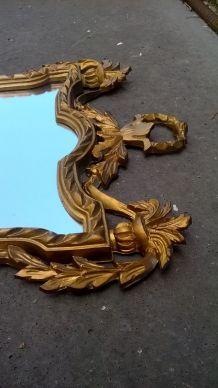 Miroir baroque résine année 70