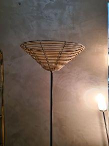 lampadaire a tablette vintage année 1960, design,  élégant