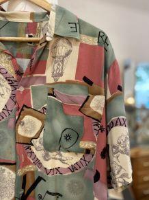 Chemise vintage homme à motifs