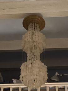 suspension lustre en nacre H130 1970 Flakes