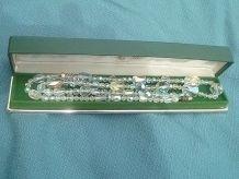 collier  ancien  verre , cristal a facettes vintage