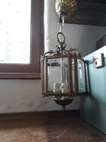 lanterne ancienne suspension laiton