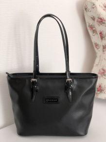 Cabas en cuir noir lisse vernis Longchamp