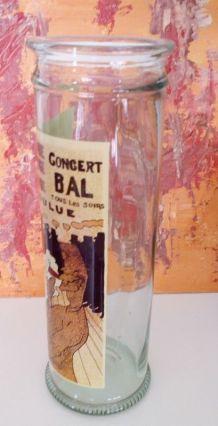 Reproduction La Goulue sur bocal en verre