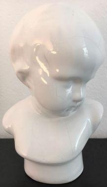"""""""Buste d'enfant"""" par Angelo Minghetti, Italie XIXè"""