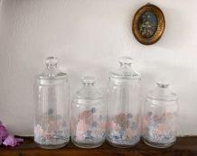 Quatro pots Luminarc vintage