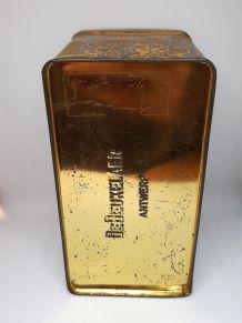 Boite en métal dorée De Beukelaer Antwerp