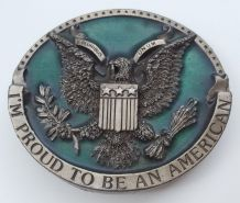 1981 Bergamont I'M Proud to Be An American Boucle Ceinture