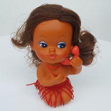Poupée caoutchouc Tiki Vintage hawaïenne hula doll