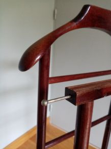 Valet de chambre en bois à double portant pour vêtements