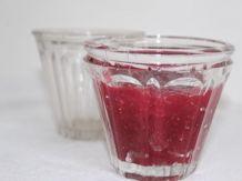 Paire de pots à confiture anciens évasés, verre épais