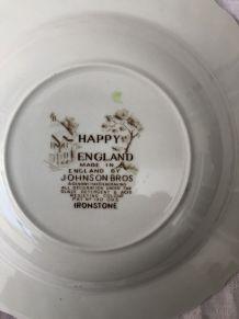 2 assiettes plates Happy England «Johnson Bros»