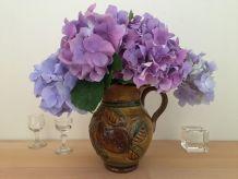 Vase Pichet Vintage Aux Couleurs d'Automne En Céramique