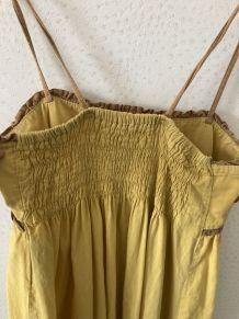 Robe coton à bretelles et smoke