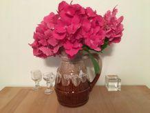 Grand Vase Pichet Vintage En Grès Flammé