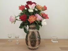 Vase Vintage Aux Couleurs d'Automne En Céramique
