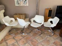 Lot table et 4 chaises Boris TABACOFF pour MMM. 1970.