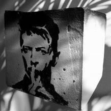 Pot de fleur  porte crayon béton  David Bowie