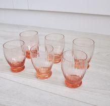 6 verres rosés