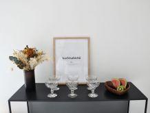 10 coupes à champagne en crystal