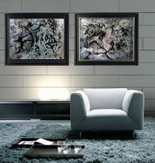 Tableaux Acrylique peinture lot de 2