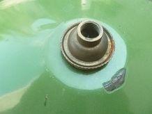 suspension en acier émaillé années 50