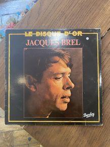 Vinyle vintage Jacques Brel - Le disque d'or