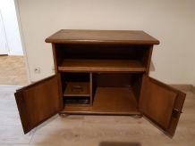 Vends meuble tv chene à customiser plateau tournant
