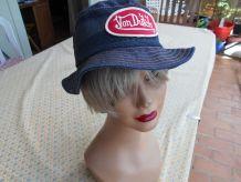 chapeau bob vintage 1950 NEUF BLEU MARINE