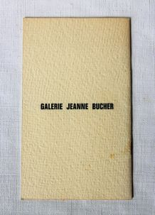 Picasso et le béton Galerie Jeanne BUCHER. RARE 1966.