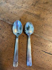 Set de 6 petites cuillères en métal argenté 1950