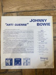 Vinyle vintage Johnny Bowie - Anti Guerre