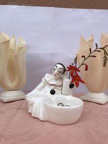 Vide poche vintage pierrot en porcelaine