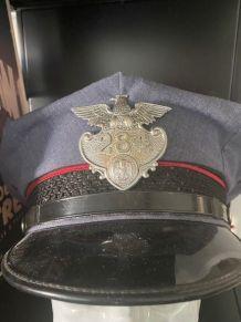 Rare Casquette Police de Louisiane USA avec son badge