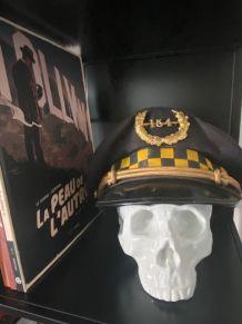 Véritable Casquette de Police CHICAGO 1940 avec son badge