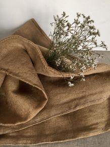 Ancien sac à grains en chanvre