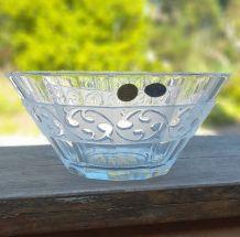 Saladier cristal taillé, en cristal de Bohème