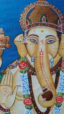 Ganesha peinture sur soie