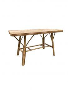 Table basse en rotin vintage 1960